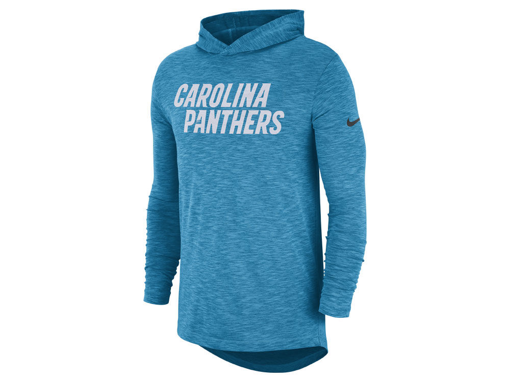 Carolina Panthers Nike NFL Men s Dri-Fit Cotton Slub On-Field Hooded T-Shirt   ba9748ed9