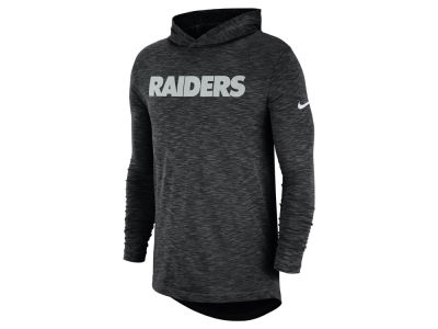 Oakland Raiders Nike NFL Men's Dri-Fit Cotton Slub On-Field Hooded T-Shirt