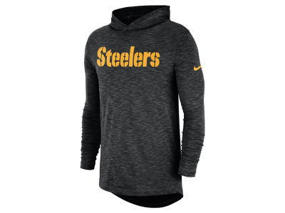 Pittsburgh Steelers Nike NFL Men's Dri-Fit Cotton Slub On-Field Hooded T-Shirt