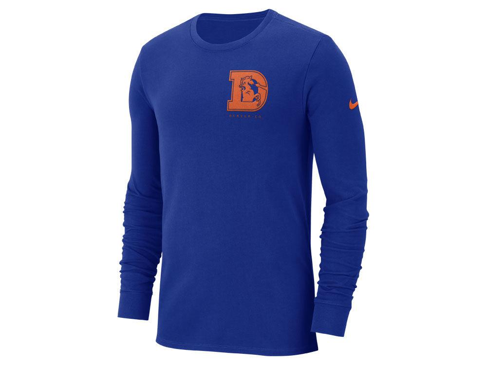 5a9eb08b0 Denver Broncos Nike NFL Men s Heavyweight Seal Long Sleeve T-Shirt ...