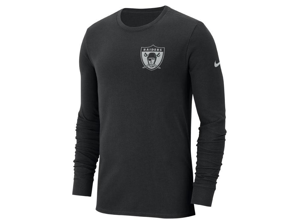 Oakland Raiders Nike NFL Men s Heavyweight Seal Long Sleeve T-Shirt ... 022939cbb