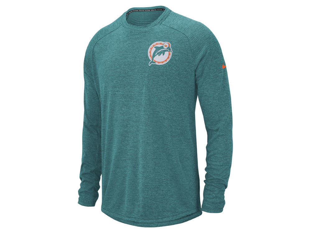 Miami Dolphins Nike 2018 NFL Men s Stadium Long Sleeve T-Shirt ... a92fc1784