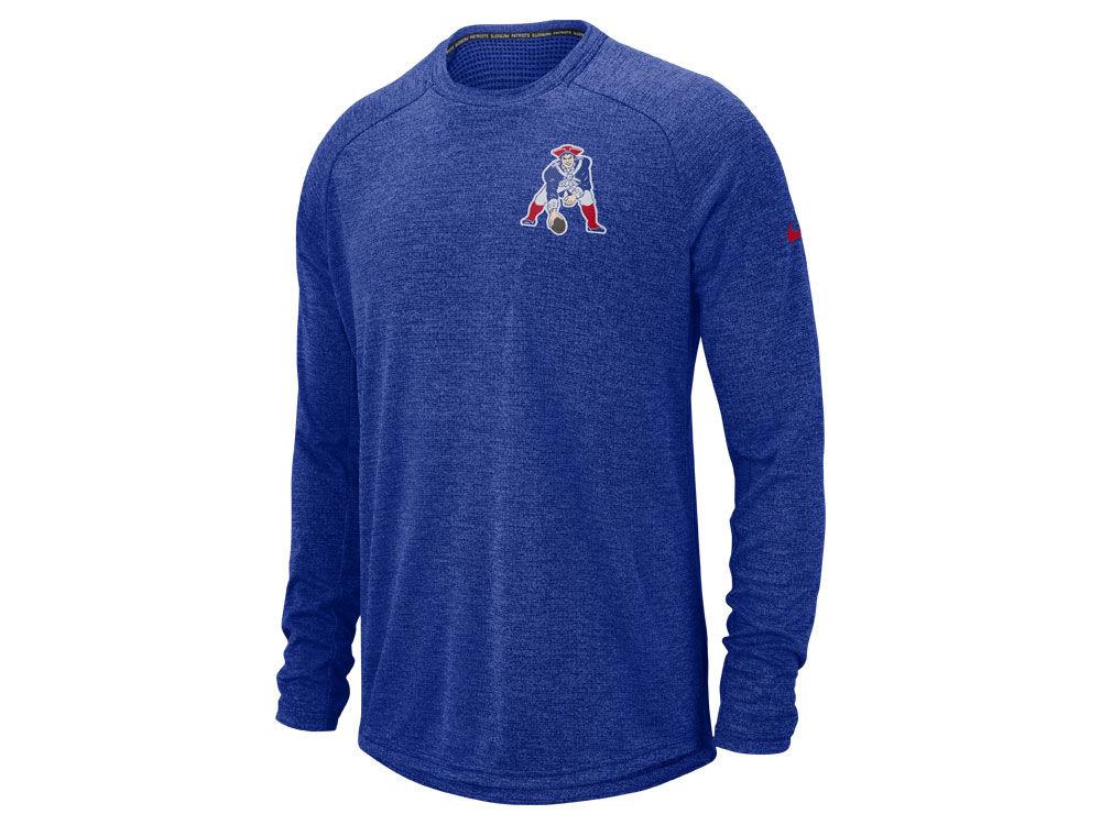 New England Patriots Nike 2018 NFL Men s Stadium Long Sleeve T-Shirt ... 72290f4c3