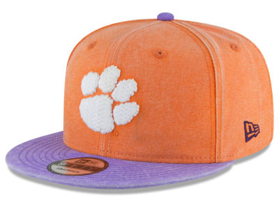 Clemson Tigers New Era NCAA Rugged Canvas 9FIFTY Snapback Cap
