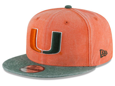 Miami Hurricanes New Era NCAA Rugged Canvas 9FIFTY Snapback Cap