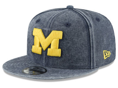 Michigan Wolverines New Era NCAA Rugged Canvas 9FIFTY Snapback Cap