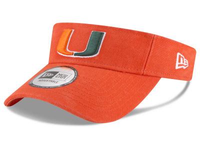 Miami Hurricanes New Era NCAA Dugout Redux Visor