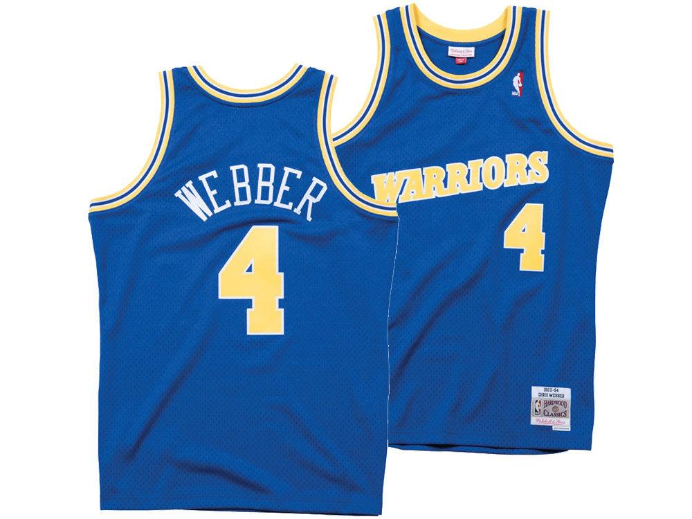 cfdc600b3 Golden State Warriors Chris Webber Mitchell   Ness NBA Men s Hardwood  Classic Swingman Jersey