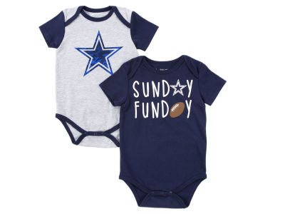 Dallas Cowboys NFL Newborn Vito Creeper Set