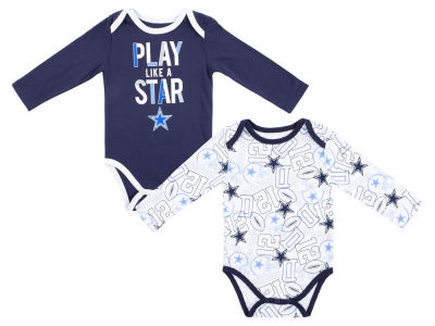 Dallas Cowboys NFL Newborn Doxin Long Sleeve Creeper Set