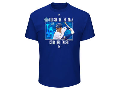 Los Angeles Dodgers Cody Bellinger 2017 MLB Men's Rookie of the Year T-Shirt