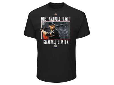 Miami Marlins Giancarlo Stanton 2017 MLB Men's MVP T-shirt