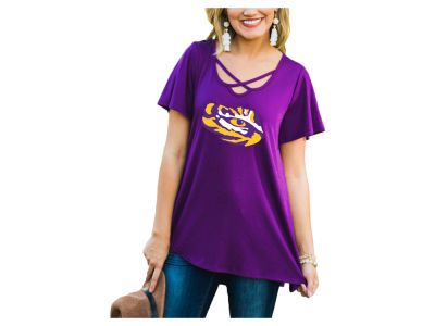 LSU Tigers Gameday Couture NCAA Women's Crossed T-Shirt