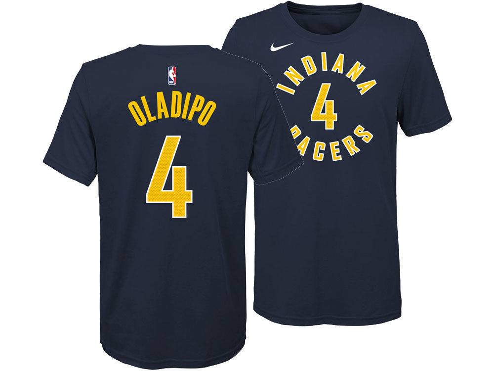 35ca8aa08 Indiana Pacers Victor Oladipo Nike NBA Youth Icon Name and Number T-Shirt