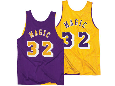 Los Angeles Lakers Magic Johnson Mitchell & Ness NBA Men's Reversible Mesh Tank Top