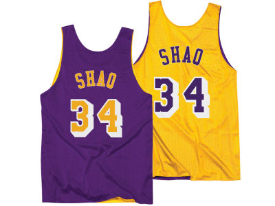 Los Angeles Lakers Shaquille O'Neal Mitchell & Ness NBA Men's Reversible Mesh Tank Top