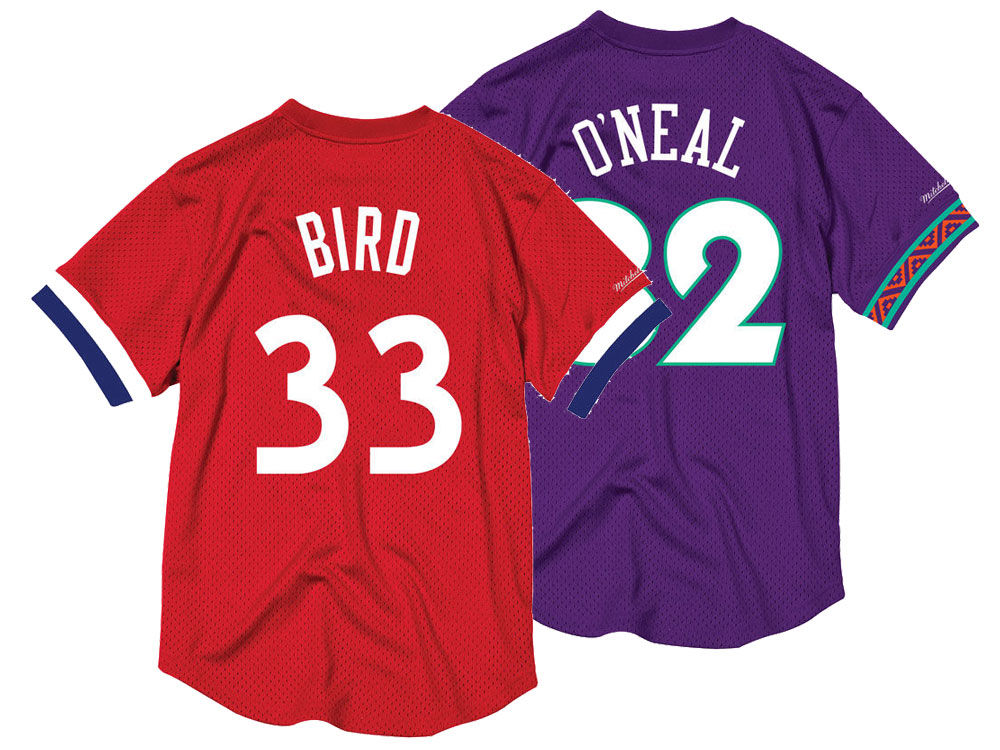 6b1a70dee NBA All Star Larry Bird Mitchell   Ness 1983 Men s Mesh Crew Neck Jersey