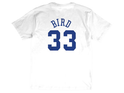 NBA All Star Larry Bird Mitchell & Ness 1990 Men's Name & Number Traditional T-Shirt