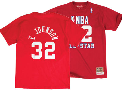 NBA All Star Magic Johnson Mitchell & Ness 1990 Men's Name & Number Traditional T-Shirt