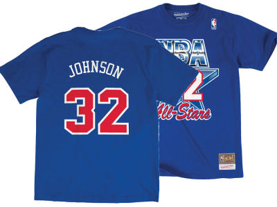 NBA All Star Magic Johnson Mitchell & Ness 1992 Men's Name & Number Traditional T-Shirt