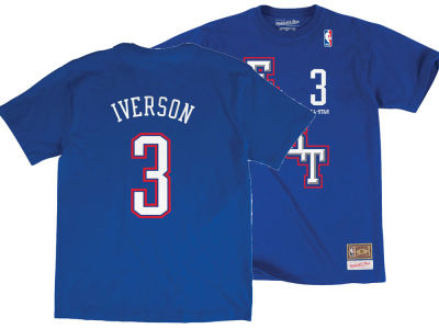 NBA All Star Allen Iverson Mitchell & Ness 2004 NBA Men's Name & Number Traditional T-Shirt