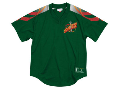 Seattle SuperSonics Mitchell & Ness NBA Men's Winning Team Mesh V-Neck Jersey