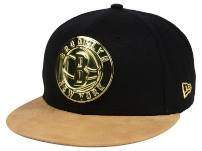 Brooklyn Nets New Era NBA Fall O'Gold 59FIFTY Cap