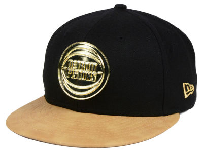 Detroit Pistons New Era NBA Fall O'Gold 59FIFTY Cap