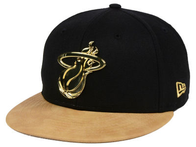 Miami Heat New Era NBA Fall O'Gold 59FIFTY Cap