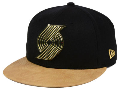 Portland Trail Blazers New Era NBA Fall O'Gold 59FIFTY Cap