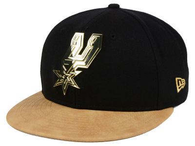 San Antonio Spurs New Era NBA Fall O'Gold 59FIFTY Cap