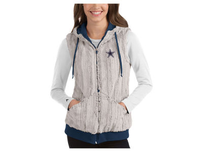Dallas Cowboys Antigua NFL Women's Rant Fur Vest