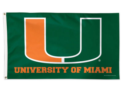 Miami Hurricanes 3x5 Deluxe Flag