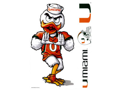 Miami Hurricanes Ultra Decals