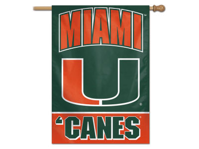Miami Hurricanes 27X37 Vertical Flag