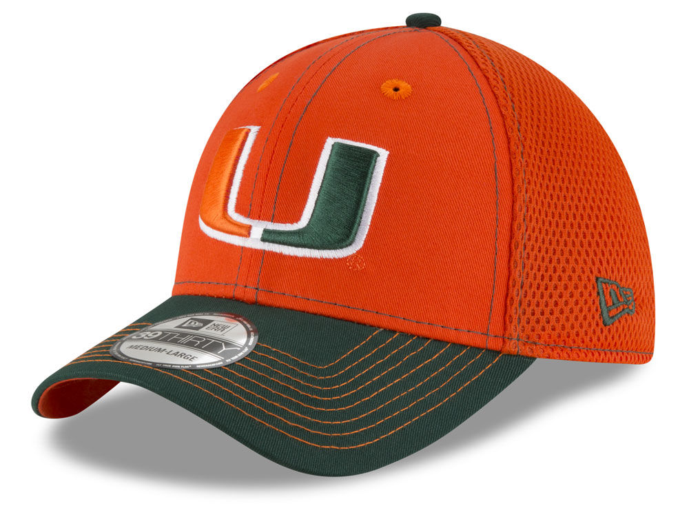 online store dd7b1 e271d ... greece miami hurricanes new era ncaa 2tone neo 39thirty cap dff6d a3453