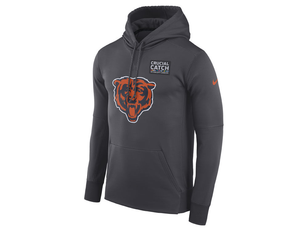 52ca7c326 Chicago Bears Nike NFL Men s Crucial Catch Therma Hoodie