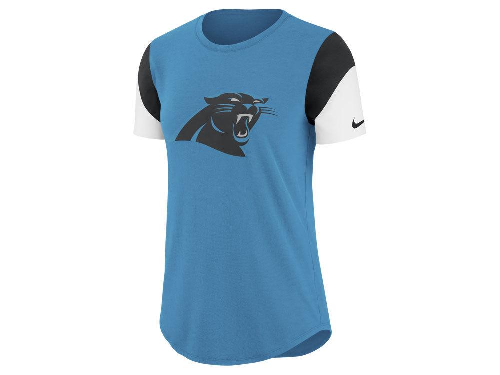 Carolina Panthers Nike NFL Women s Tri-Fan T- Shirt  b2bd629901