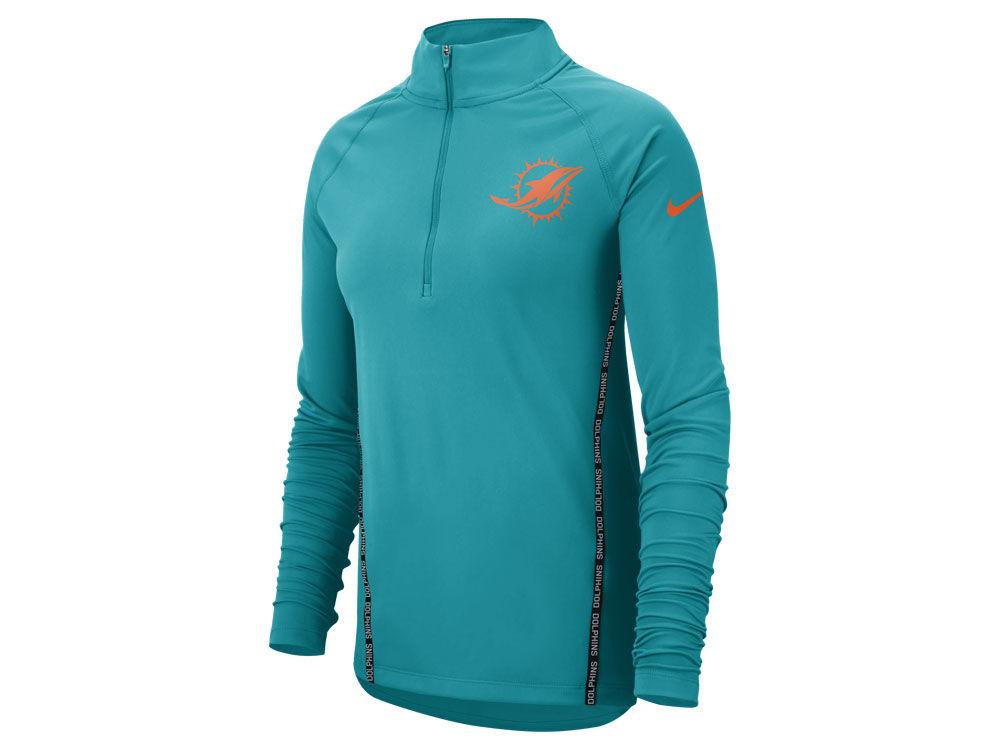 cbd27c27 Miami Dolphins Nike NFL Women's Element Core Half Zip Pullover
