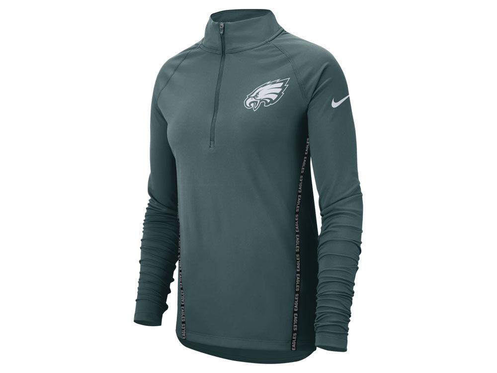 Philadelphia Eagles Nike NFL Women s Element Core Half Zip Pullover ... 3fd5d1fe2