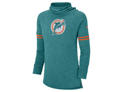 Miami Dolphins Nike NFL Women's Funnel Neck Long Sleeve T-shirt