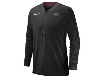 7b92e3028 Georgia Bulldogs Nike 2018 NCAA Men s Coaches Quarter Zip Pullover
