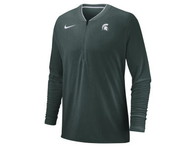 Michigan State Spartans Nike 2018 NCAA Men's Coaches Quarter Zip Pullover