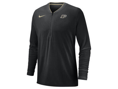 Purdue Boilermakers Nike 2018 NCAA Men's Coaches Quarter Zip Pullover