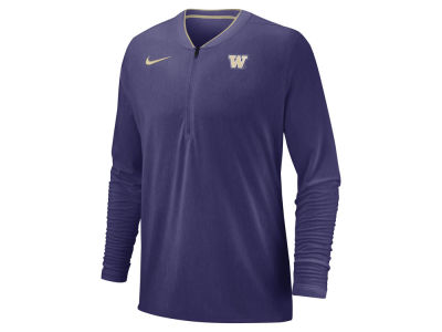 Washington Huskies Nike 2018 NCAA Men's Coaches Quarter Zip Pullover