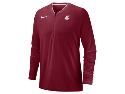 Washington State Cougars Nike 2018 NCAA Men's Coaches Quarter Zip Pullover