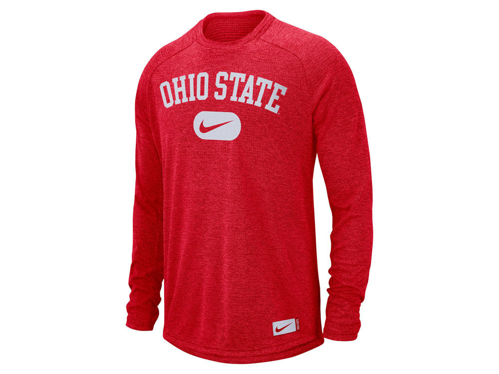 Ohio State Buckeyes Nike NCAA Men s Stadium Long Sleeve T-Shirt ... 86e5fa976