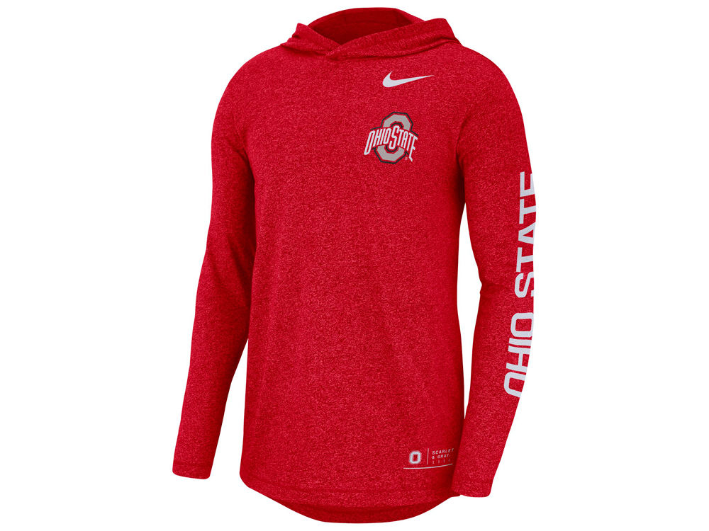 Ohio State Buckeyes Nike NCAA Men s Long Sleeve Hooded T-Shirt ... 832282781