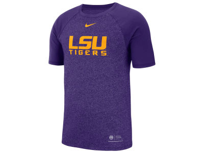 LSU Tigers Nike NCAA Men's Marled Raglan T-Shirt