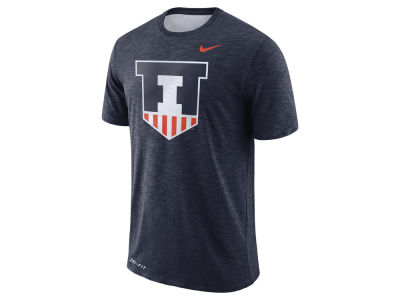 Illinois Fighting Illini Nike NCAA Men's Dri-Fit Cotton Slub T-Shirt